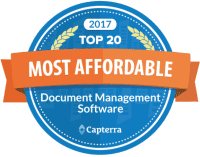 Capterra Top 20 Most Affordable Document Managament Software