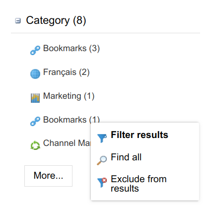 Intranet Search Filtering