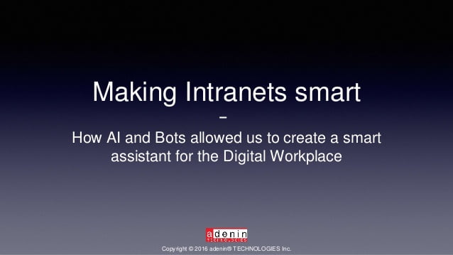 Making Intranets Smart