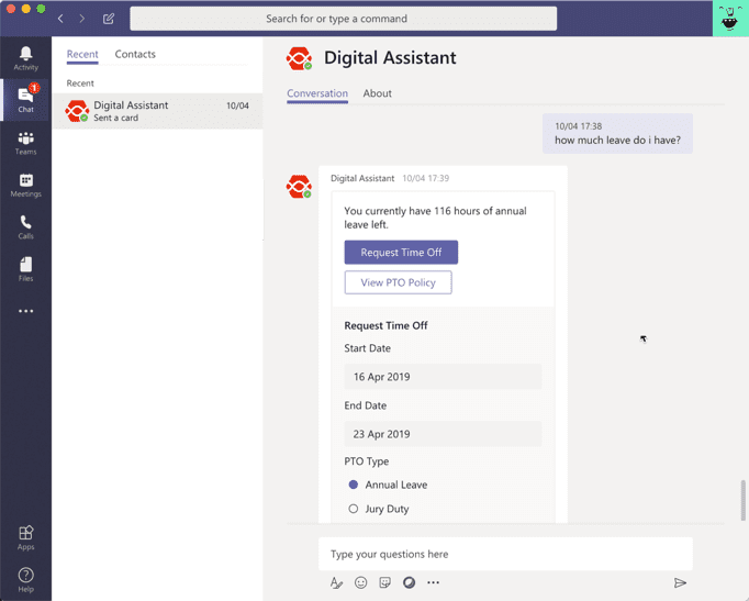 Digital Assistant SharePoint Framework Extension · adenin