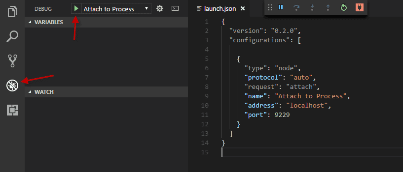 Run launch configuration in VS Code