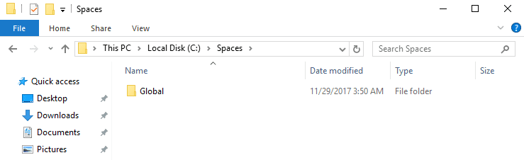 Copy the existing space into the shared folder
