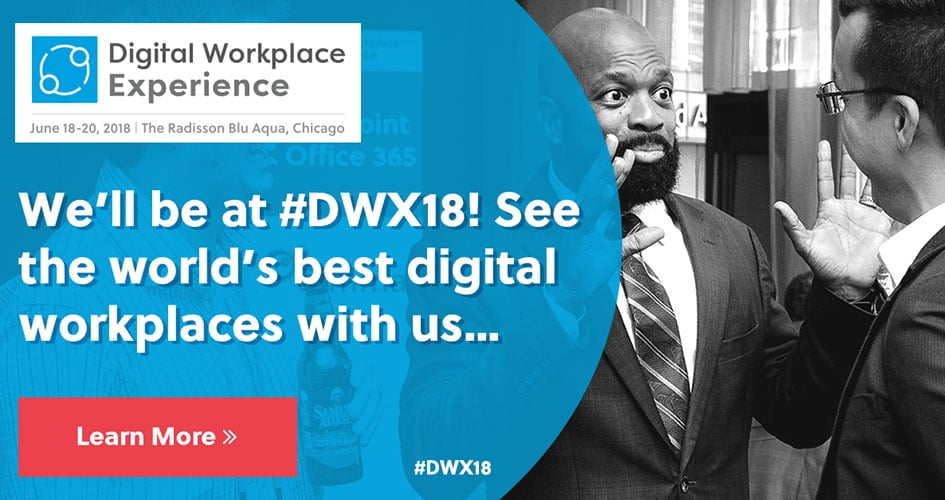 Join us at Digital Workplace Experience 2018
