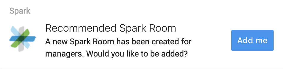 AI recommended Spark room