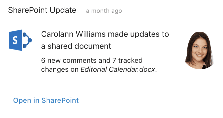 SharePoint file update